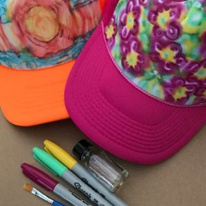 Tie Dye Trucker Hat Art Kit