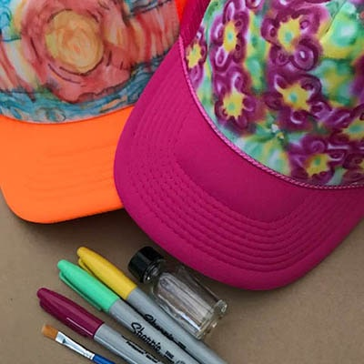 Tie Dye Trucker Hat Art Kit