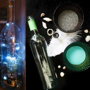 Wine Bottle Solar Light Kit