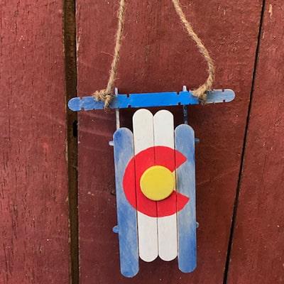 Colorado Sled Ornament