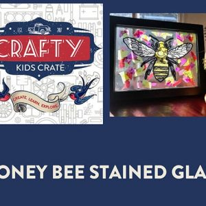 Honey Bee Stained Glass