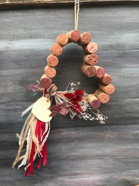 Cork Heart Wreath